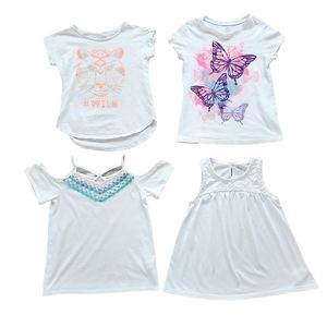 Lot 1 of Girl's Short Sleeve Shirts Size 7/8